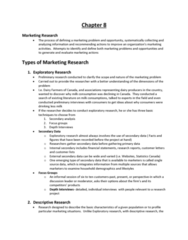 COMMERCE 2MA3 Chapter Notes - Chapter 8: Likert Scale, Scientific Method, Data Mining
