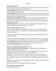 COMMERCE 2MA3 Chapter Notes - Chapter 9: Psychographic, Mass Customization, Market Segmentation
