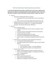 SOC216H5 Study Guide - Final Guide: Mechanical And Organic Solidarity, Femininity, Social Change