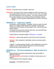 ECON 102 Chapter Notes - Chapter 1: Opportunity Cost, Market Failure, Externality