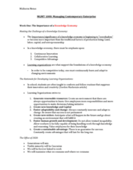MGMT 1000 Study Guide - Midterm Guide: Midlife Crisis, Knowledge Economy, Virtual Work