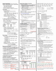 BU275 Study Guide - Final Guide: Linear Programming Relaxation, Proj Construction, Round Number
