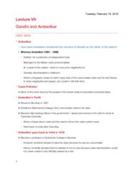 HISA 3003 Lecture Notes - Lecture 7: Kalaram Temple, Navayana, Poona Pact