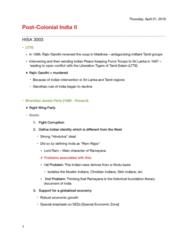 HISA 3003 Lecture Notes - Lecture 20: Rama, Tiger Memon, Dawood Ibrahim