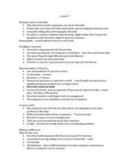 SOC355H5 Lecture Notes - Lecture 7: Diversity Training, Teamwork, Smart People