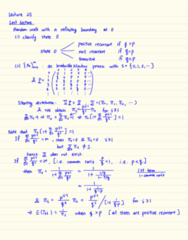 STAT333 Lecture Notes - Lecture 25: Random Walk, Hefei, Doubly Stochastic Matrix