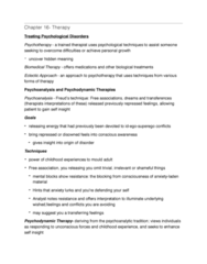 PSYC 102 Chapter Notes - Chapter 16: Exposure Therapy, Systematic Desensitization, Behaviour Therapy