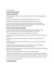 SOC244H5 Chapter Notes - Chapter 2: Coureur Des Bois, Upper Class, Social Stratification