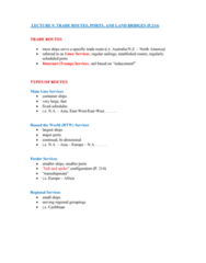 International Business INB345 Lecture Notes - Lecture 9: Inland Port