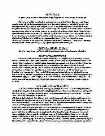 arth-105-lecture-2-ekphrasisformaldescriptionandformalanalysis