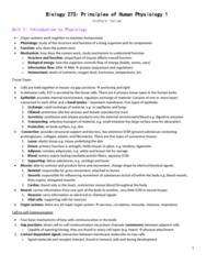 BIOL273 Study Guide - Midterm Guide: Central Nervous System, Axon Hillock, Efferent Nerve Fiber