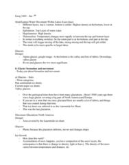 GEOG 1400 Lecture Notes - Lecture 33: Basal Sliding, Laurentide Ice Sheet, Franz Josef Glacier