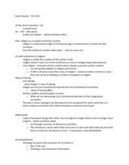 RLG332H5 Study Guide - Final Guide: Mise-En-Scène, Jean Baudrillard, Kundun