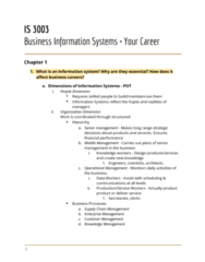 IS 3003 Lecture Notes - Lecture 1: Human Factors And Ergonomics, Unix System Iii, Information System