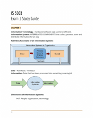 IS 3003 Study Guide - Midterm Guide: Customer Retention, Enterprise System, Knowledge Management
