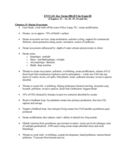 ENVI 110 Study Guide - Quiz Guide: Ogallala Aquifer, Nonpoint Source Pollution, Freshwater Ecosystem