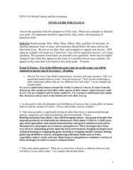 ENVI 130 Study Guide - Midterm Guide: Emic And Etic, Cultural Relativism, Enculturation