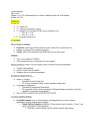 MK 370 Lecture Notes - Lecture 13: Simple Random Sample, Stratified Sampling, Sampling Frame