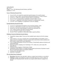 MK 370 Lecture Notes - Lecture 3: Nielsen Ratings, Survey Sampling, Deontological Ethics
