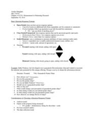 MK 370 Lecture Notes - Lecture 10: Potato Chip, Guacamole, Likert Scale