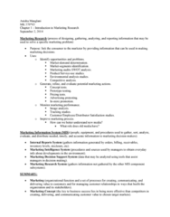 MK 370 Chapter Notes - Chapter 1: Image Analysis, Swot Analysis, Marketing Effectiveness