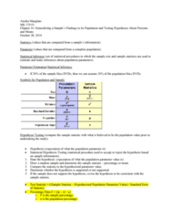 MK 370 Chapter Notes - Chapter 16: Statistical Parameter, Statistic, Standard Deviation