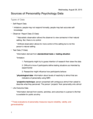 PSYC 382 Lecture Notes - Lecture 2: Naturalistic Observation, Open Data Protocol, Projective Test
