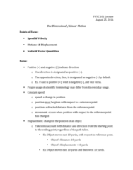 PHYC 101 Lecture Notes - Lecture 2: One Direction