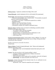 HIS-3464 Study Guide - Midterm Guide: Thomas Kuhn, Atomism, Hellenistic Greece