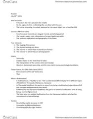 RLG332H5 Lecture Notes - Lecture 7: Vajrayana, Andrei Tarkovsky, Mahayana