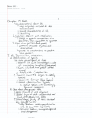 LIFE 121 Chapter 19.2: Notes 19.2