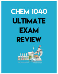 CHEM 1040 Final: Exam Review Study Notes