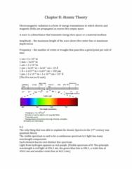 CHEM 1000 Chapter Notes - Chapter 8: Bohr Model, Johann Jakob Balmer, Heinrich Hertz