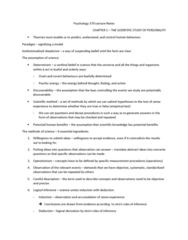 PSYC 370 Chapter Notes - Chapter 1: Empirical Evidence, Determinism, Open Data Protocol
