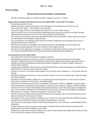 SOC 633 Study Guide - Midterm Guide: Karl Heinrich Ulrichs, Sexual Repression, Heterosexuality