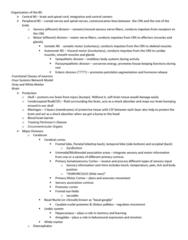 BIOC32H3 Lecture Notes - Lecture 3: Gyrification, Parietal Lobe, Cerebrospinal Fluid