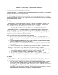 BU491 Chapter Notes - Chapter 3: Competitive Advantage