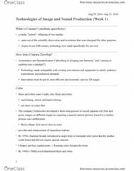 ETS 154 Lecture Notes - Lecture 2: Kodak, Eastmancolor, Medium Specificity