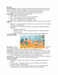 PHIS 206 Lecture Notes - Lecture 3: Cell Membrane, Fluid Mosaic Model, Tight Junction