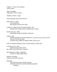 BIOL 205 Lecture Notes - Lecture 1: De Humani Corporis Fabrica, Plastination, Herophilos