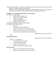 BIOL 205 Lecture Notes - Lecture 12: Endochondral Ossification, Hyaline Cartilage, Axial Skeleton