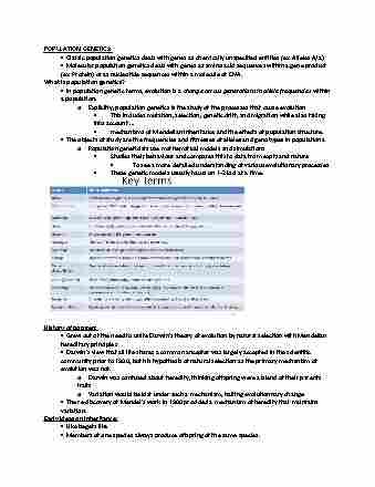 bio3119-lecture-1-population-genetics-lec-1-mendelian-genetics
