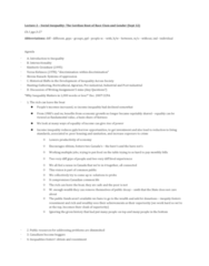 SOCIOL 2R03 Lecture Notes - Lecture 2: Intersectionality, Simon Kuznets, Hunter-Gatherer