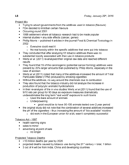 SCIE 1P51 Lecture Notes - Lecture 8: Nornicotine, Respiratory Tract, Boogie 2Nite
