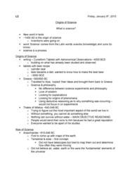 SCIE 1P51 Lecture Notes - Lecture 2: Milkmaid, Variolation, William Whewell