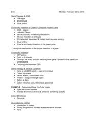 SCIE 1P51 Lecture Notes - Lecture 13: American Nitrox Divers International, Diabetes Mellitus Type 1, Viral Vector
