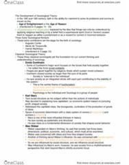 SOC 100 Lecture Notes - Lecture 3: Harriet Martineau, Auguste Comte, Economic Determinism