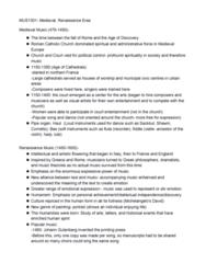 MUS 1301 Lecture Notes - Lecture 3: Pierre Attaingnant, Johannes Gutenberg, Sackbut