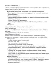 MUS 1301 Lecture Notes - Lecture 8: Scherzo, Contrabassoon, Pedal Point