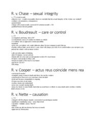 CRIM 230 Study Guide - Final Guide: Actus Reus, Culpable Homicide, Mens Rea